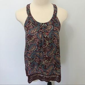 Zoe & Rose Band of Gypsies Cage Back Crochet Tank